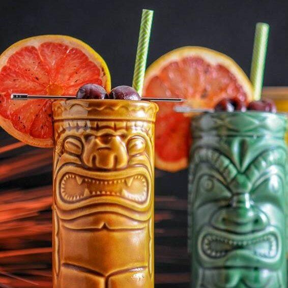 Tiki bar drinks on your Kokomo Charters land tour